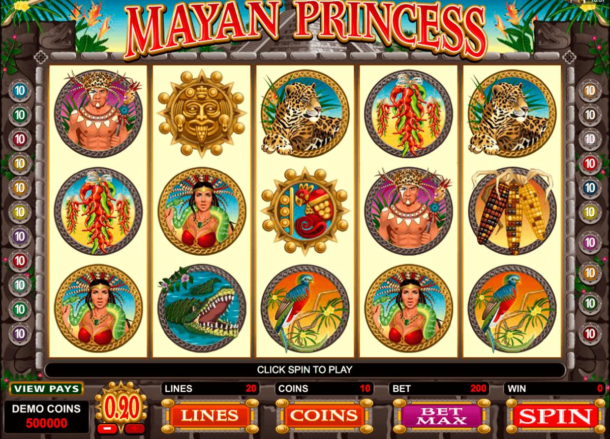 mayan princess microgaming gokkast