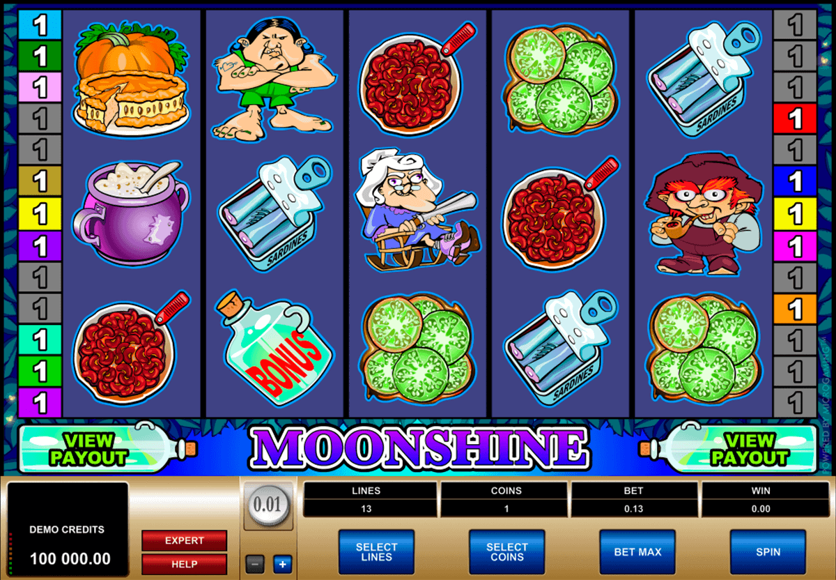 moonshine microgaming gokkast