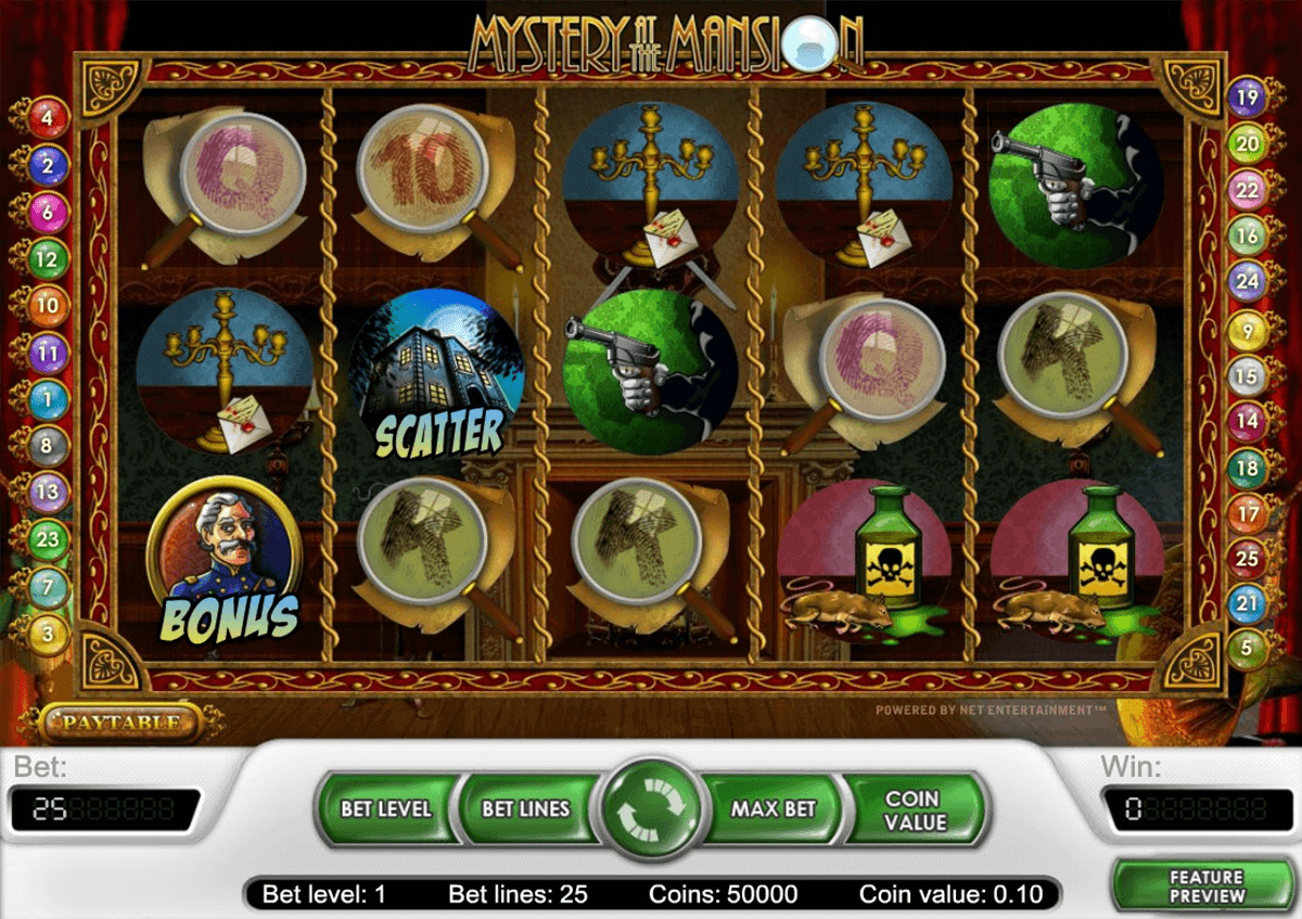 Mystery at the Mansion - gratis interaktivt slot