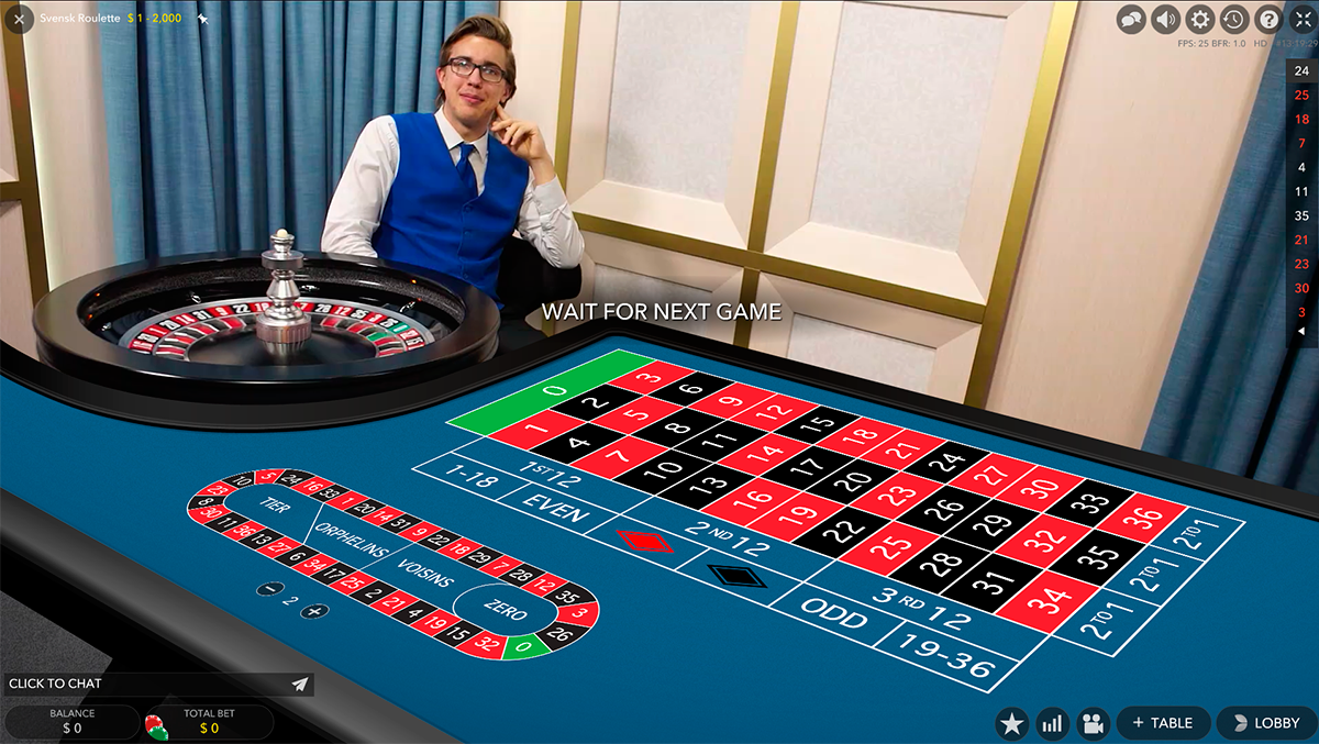 native speaking roulette evolution gaming