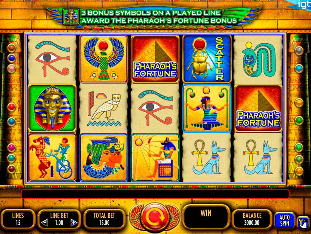 pharaohs fortune igt gokkast