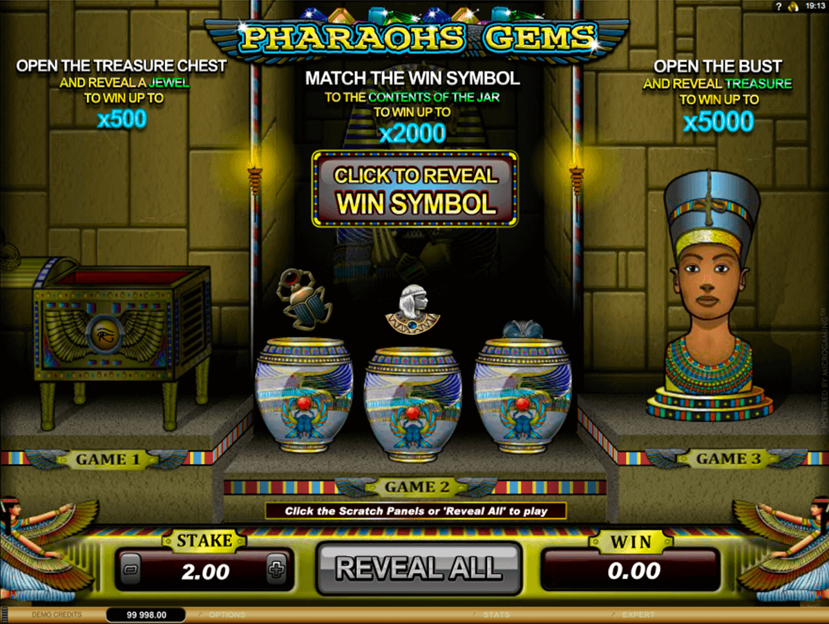 pharoahs gems microgaming krasloten