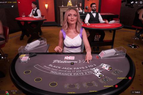 platinum vip live blackjack evolution gaming