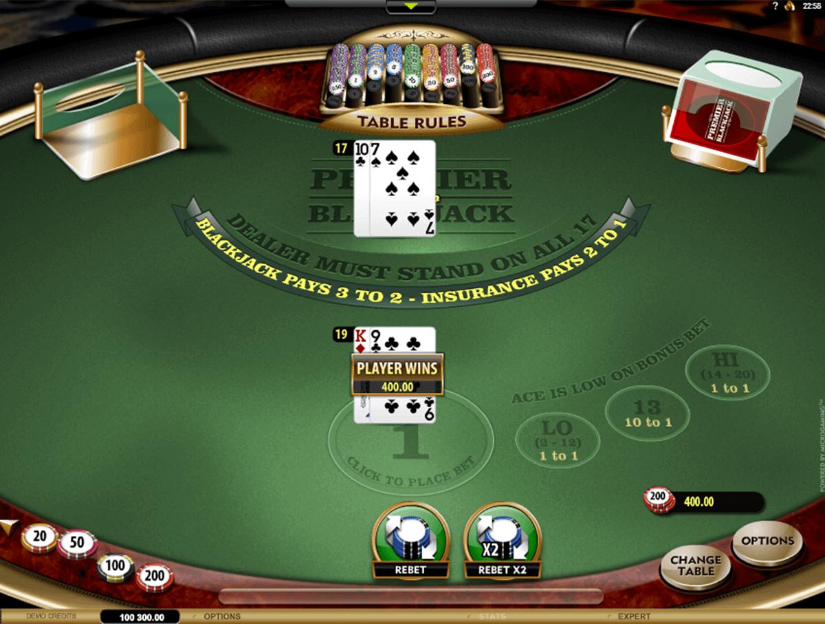 premier blackjack hi lo gold microgaming