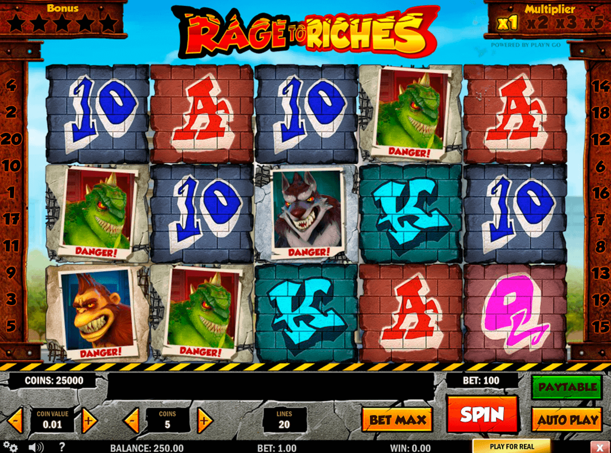 rage to riches playn go gokkast