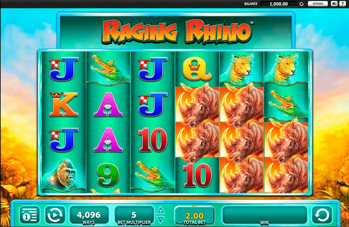 raging rhino wms gokkast