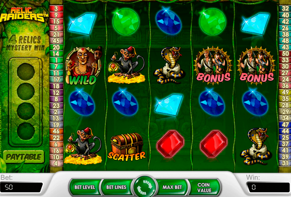 relic raiders netent gokkasten