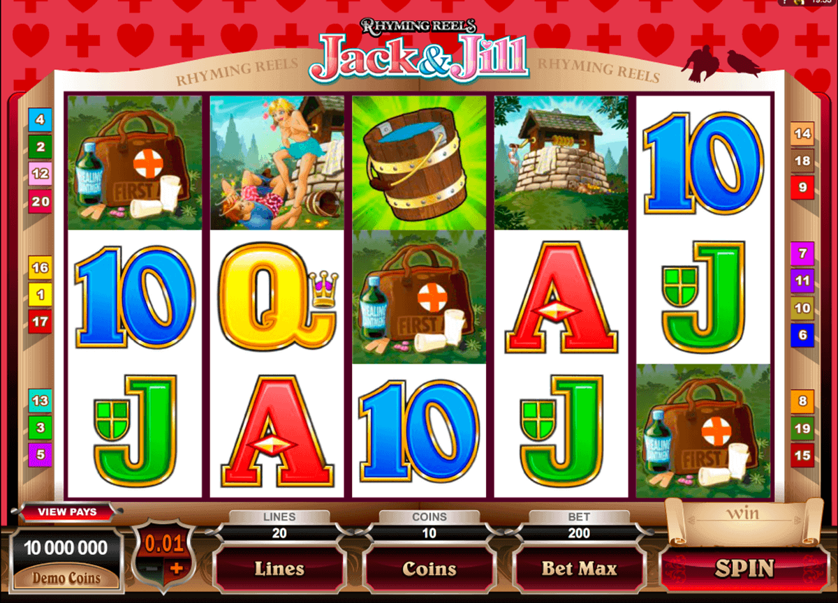 rhyming reels jack and jill microgaming gokkast