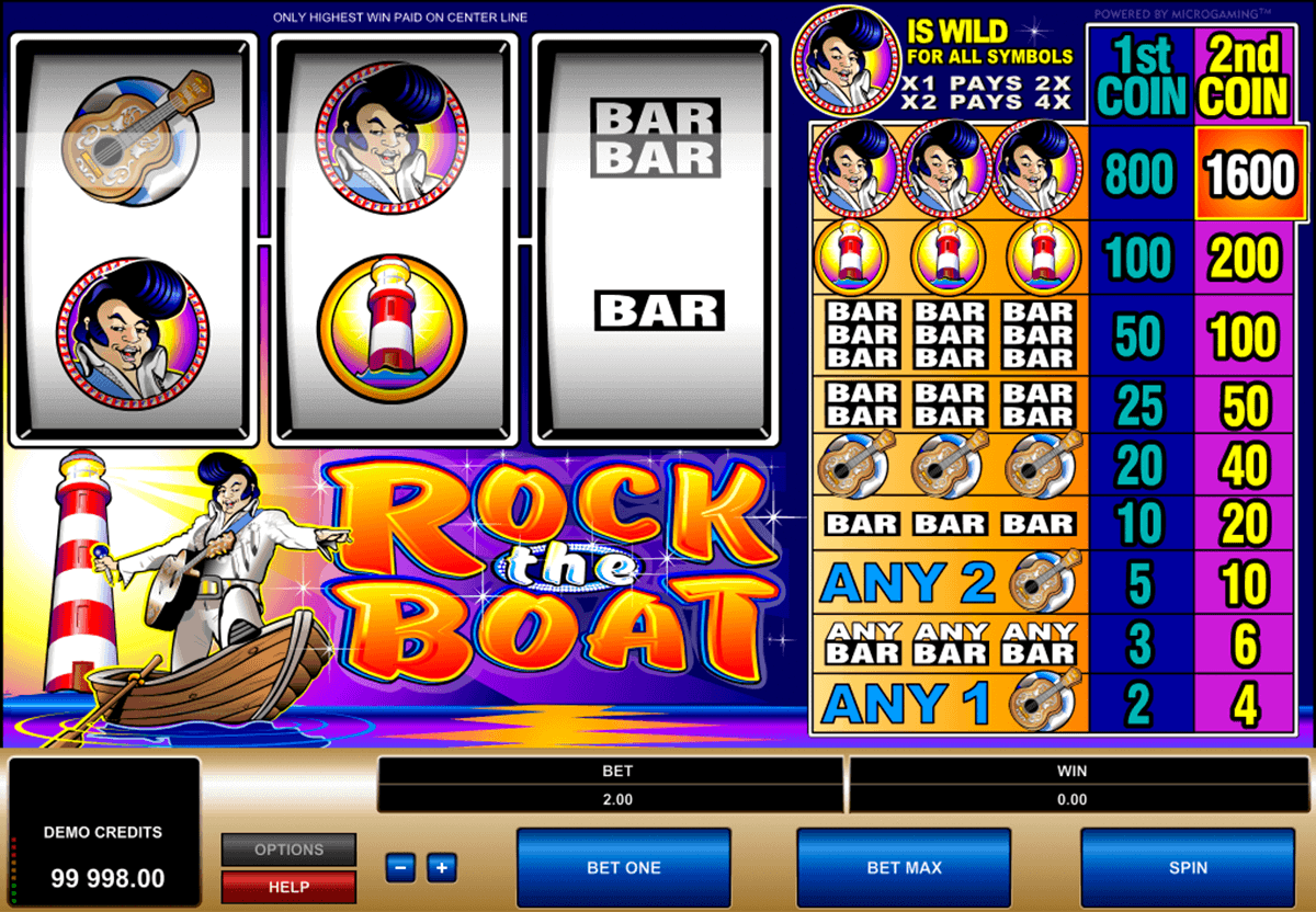 rock the boat microgaming gokkast