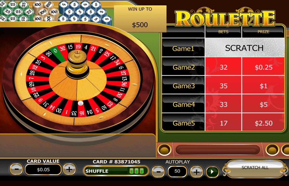 roulette scratch playtech krasloten