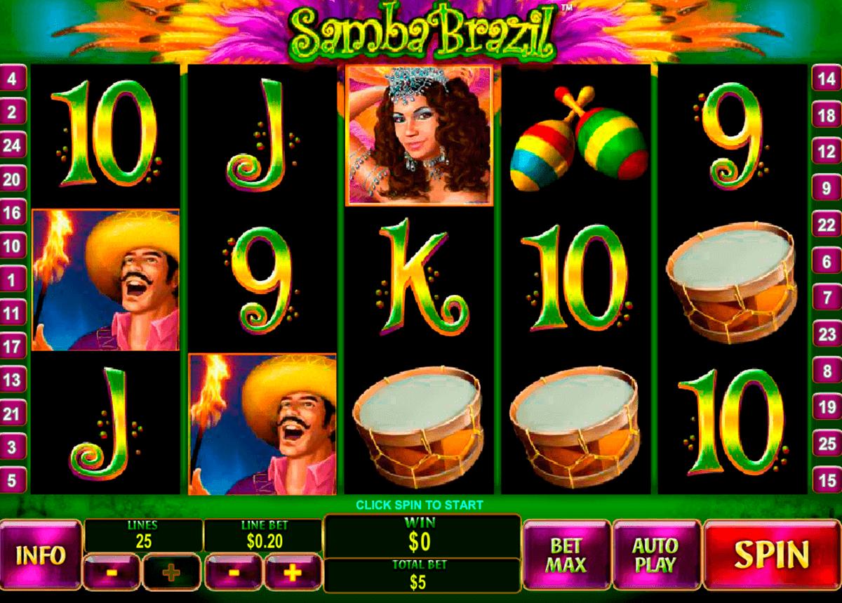samba brazil playtech gokkast