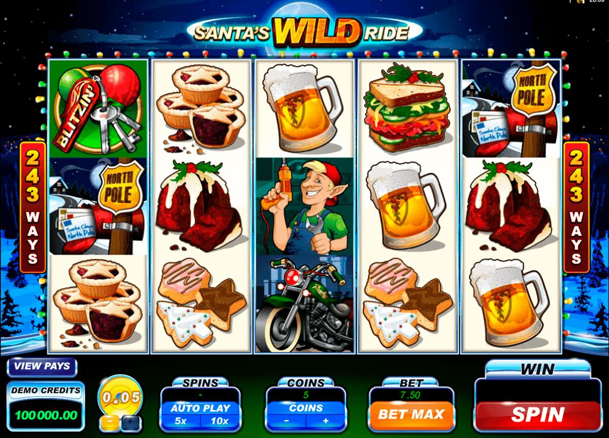 Santa's Wild Ride - Rizk Casino