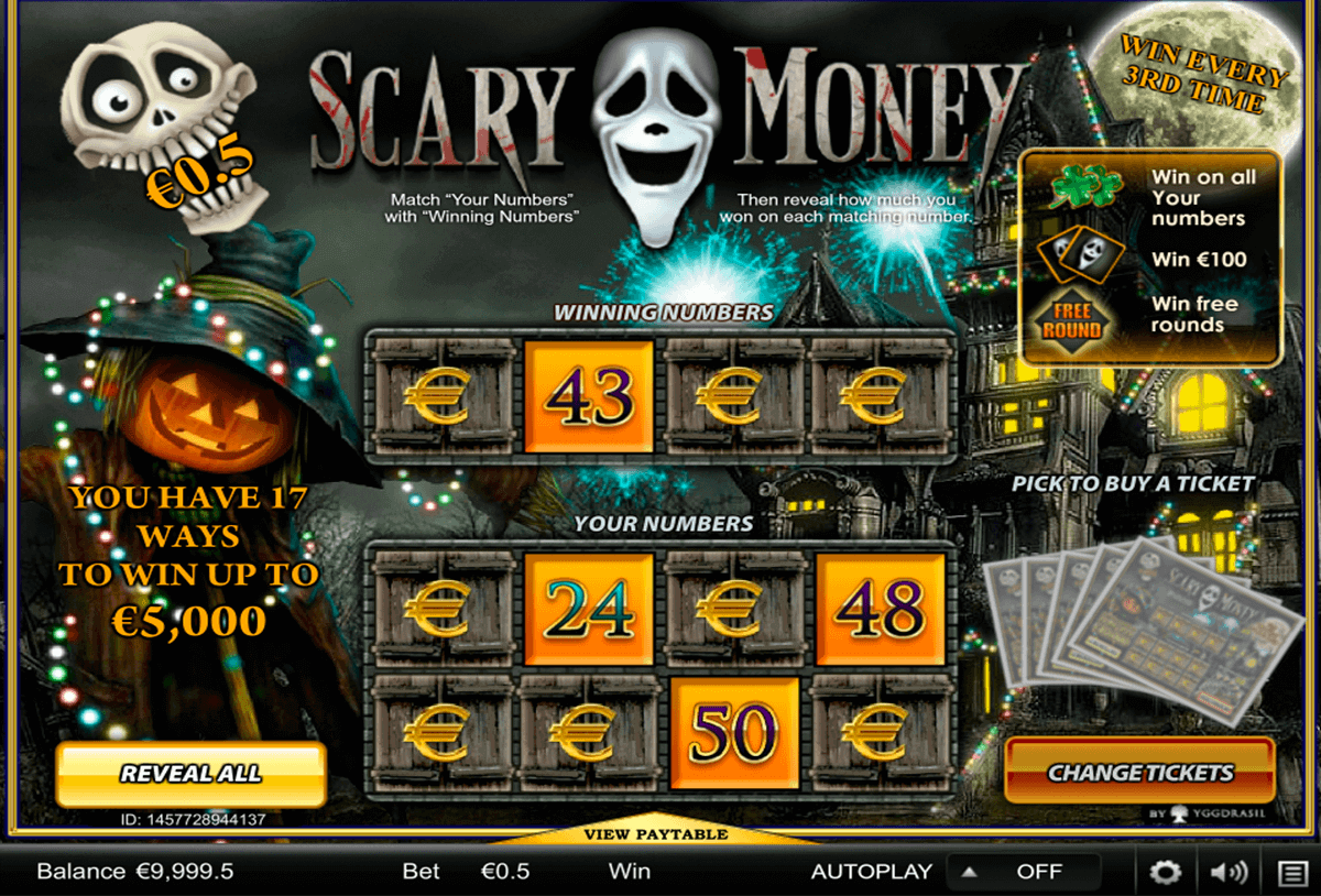 scary money yggdrasil krasloten