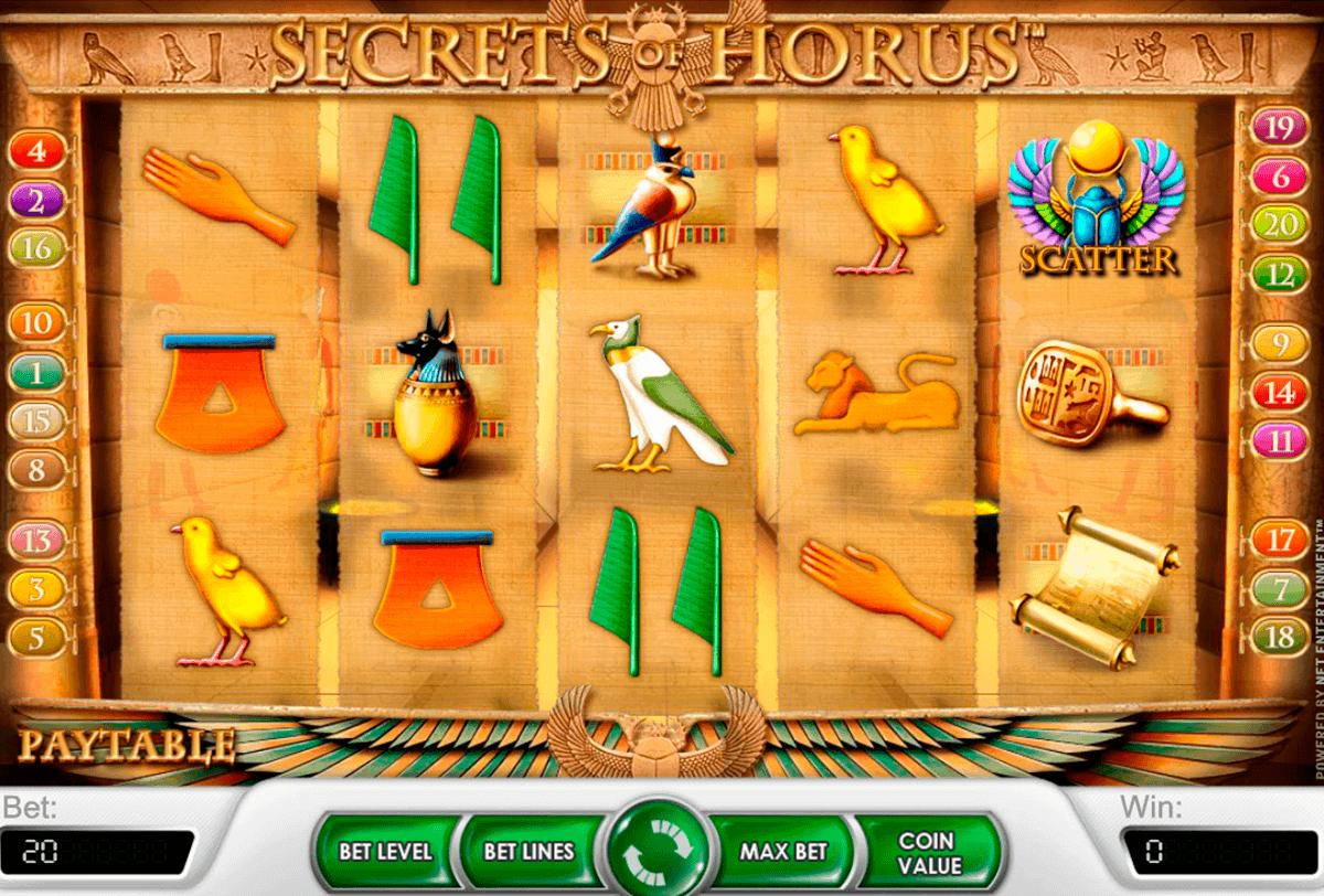 secrets of horus netent gokkasten