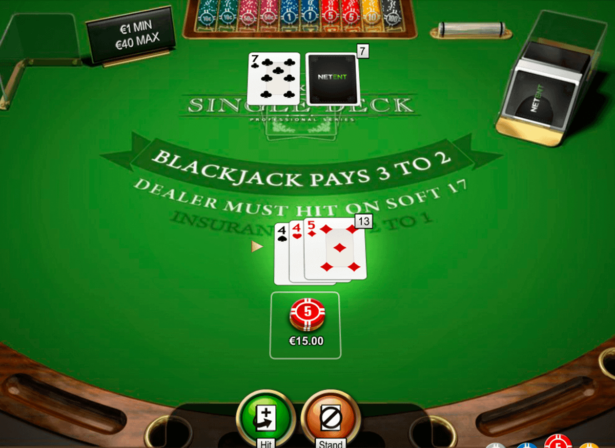 single deck blackjack netent blackjack