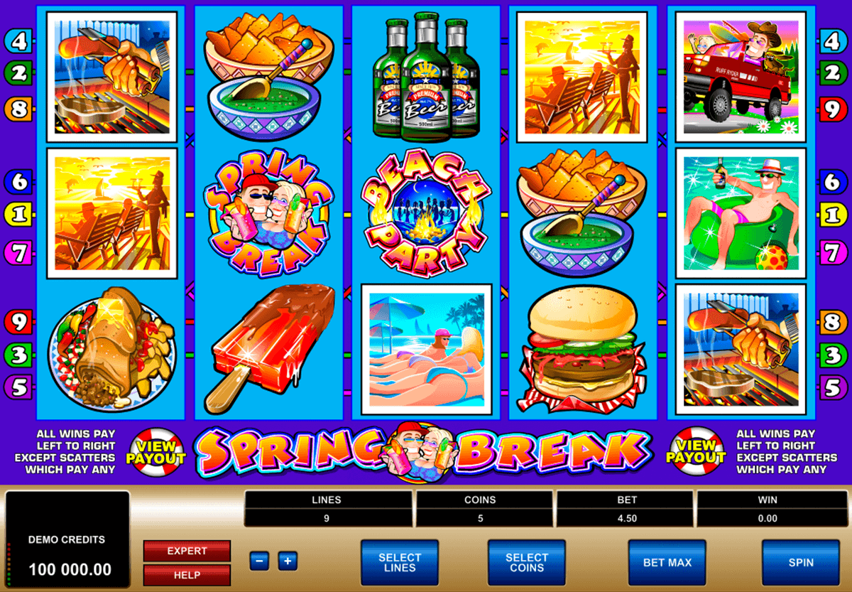 Spring Break Slot Recension & Gratis Casino Spel Online