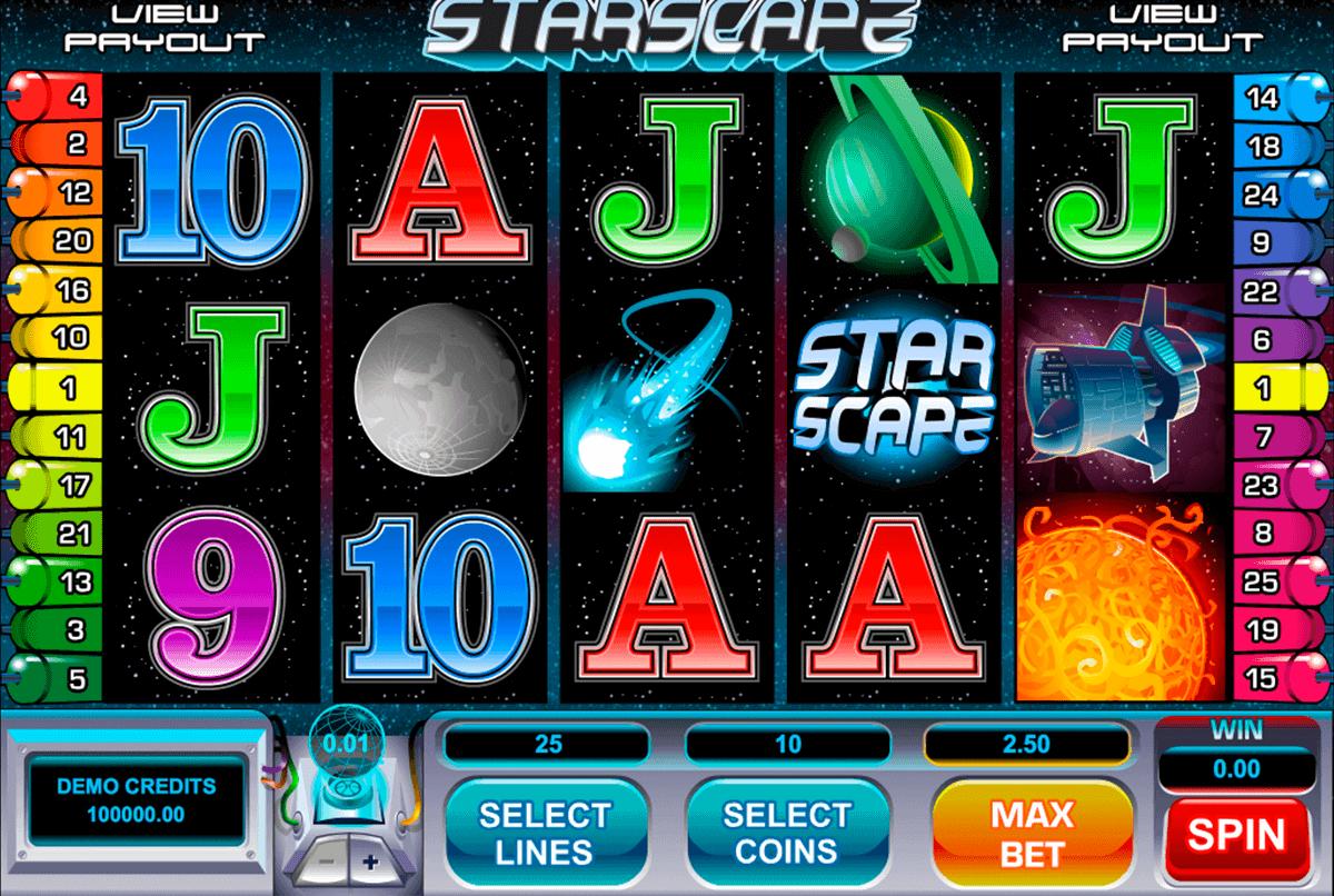 starscape microgaming gokkast