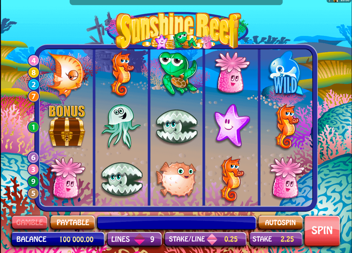 sunshine reef microgaming gokkast