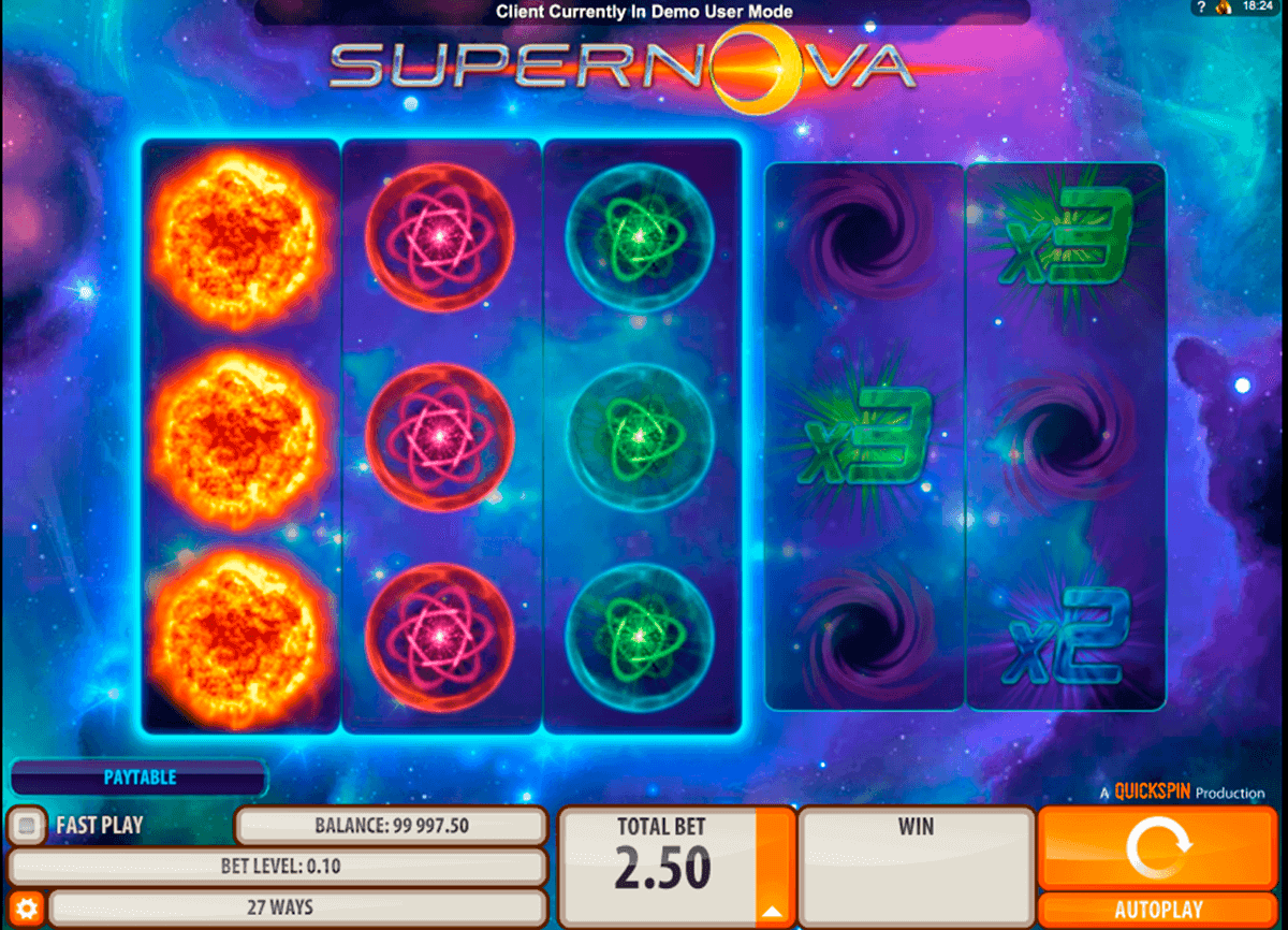 supernova quickspin gokkast