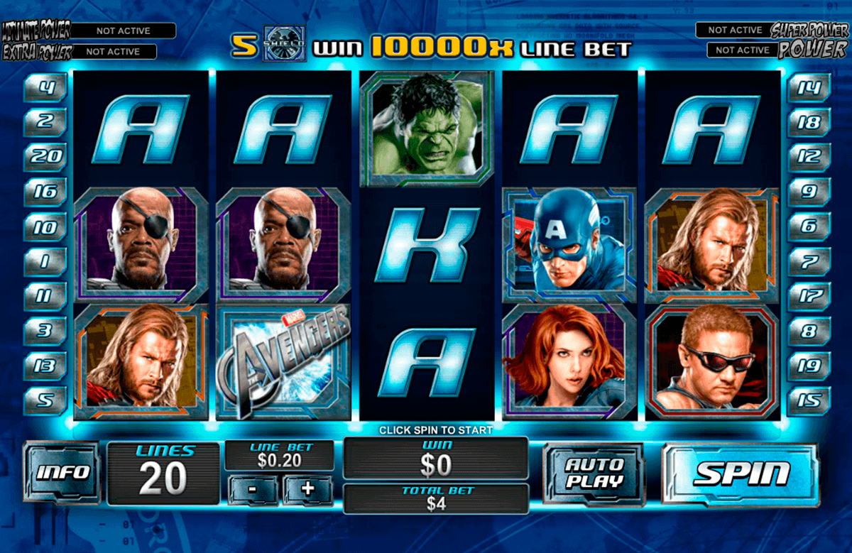 the avengers playtech gokkast