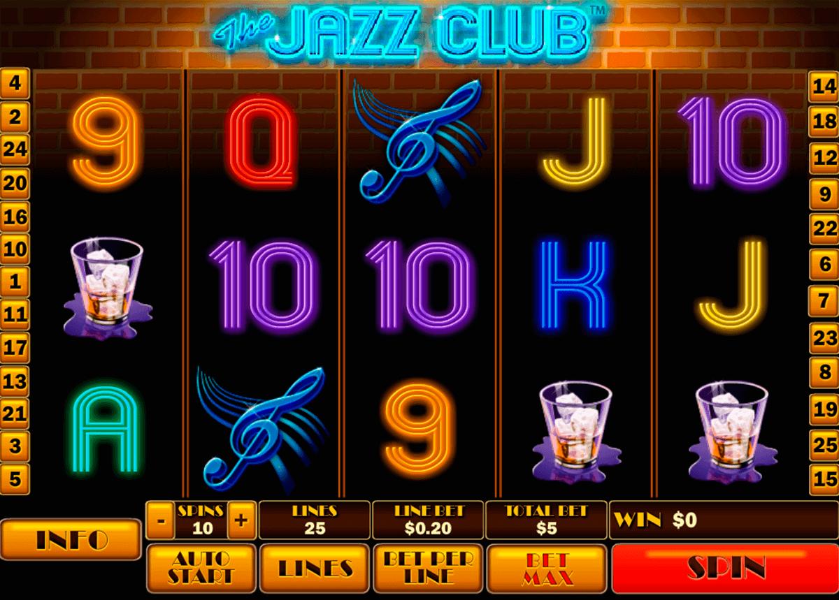 the jazz club playtech gokkast