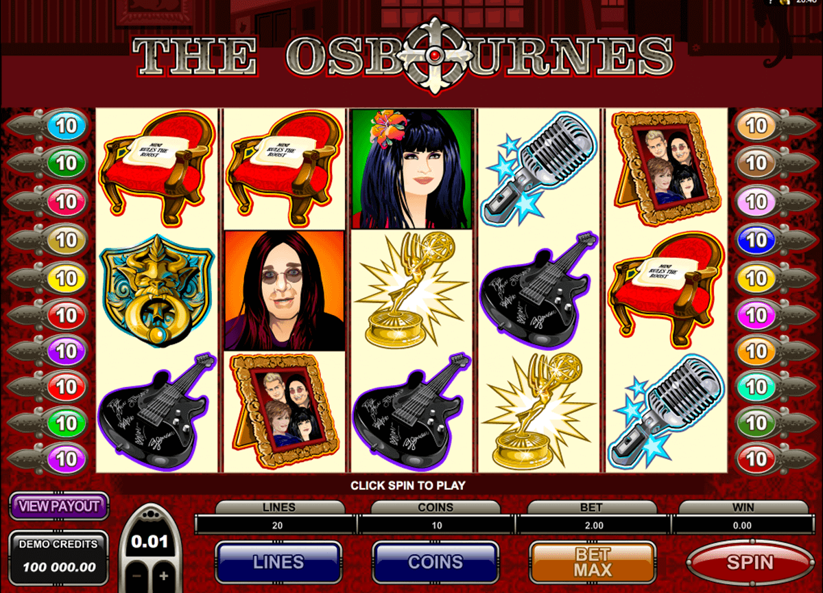the osbournes microgaming gokkast