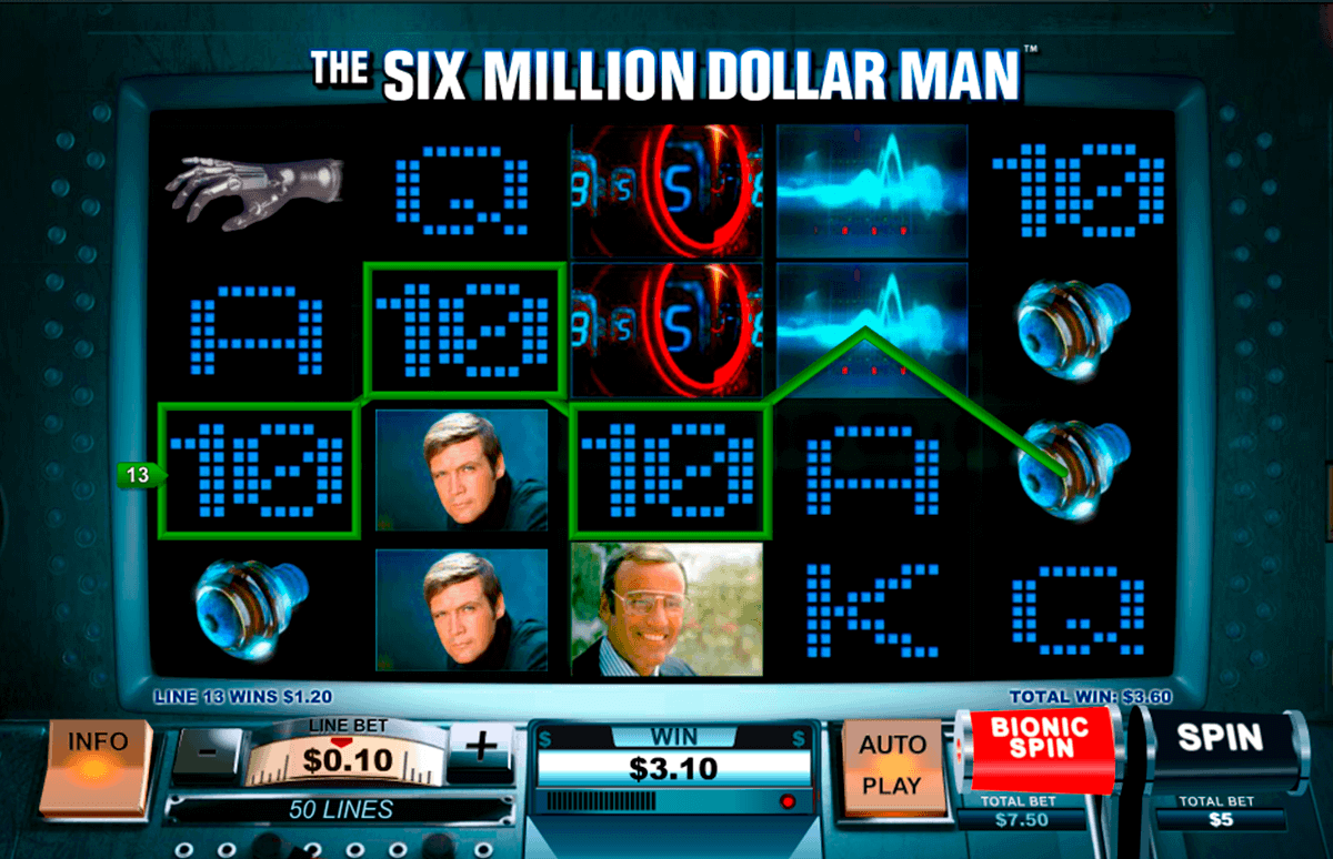 the si million dollar man playtech gokkast