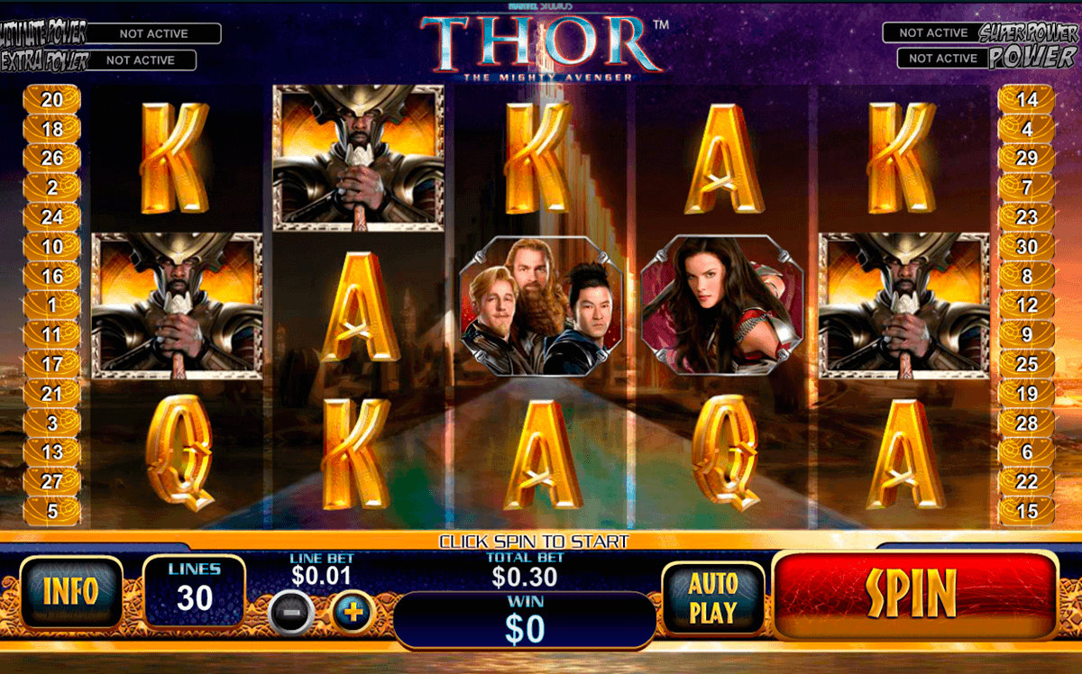 thor the mighty avenger playtech gokkast