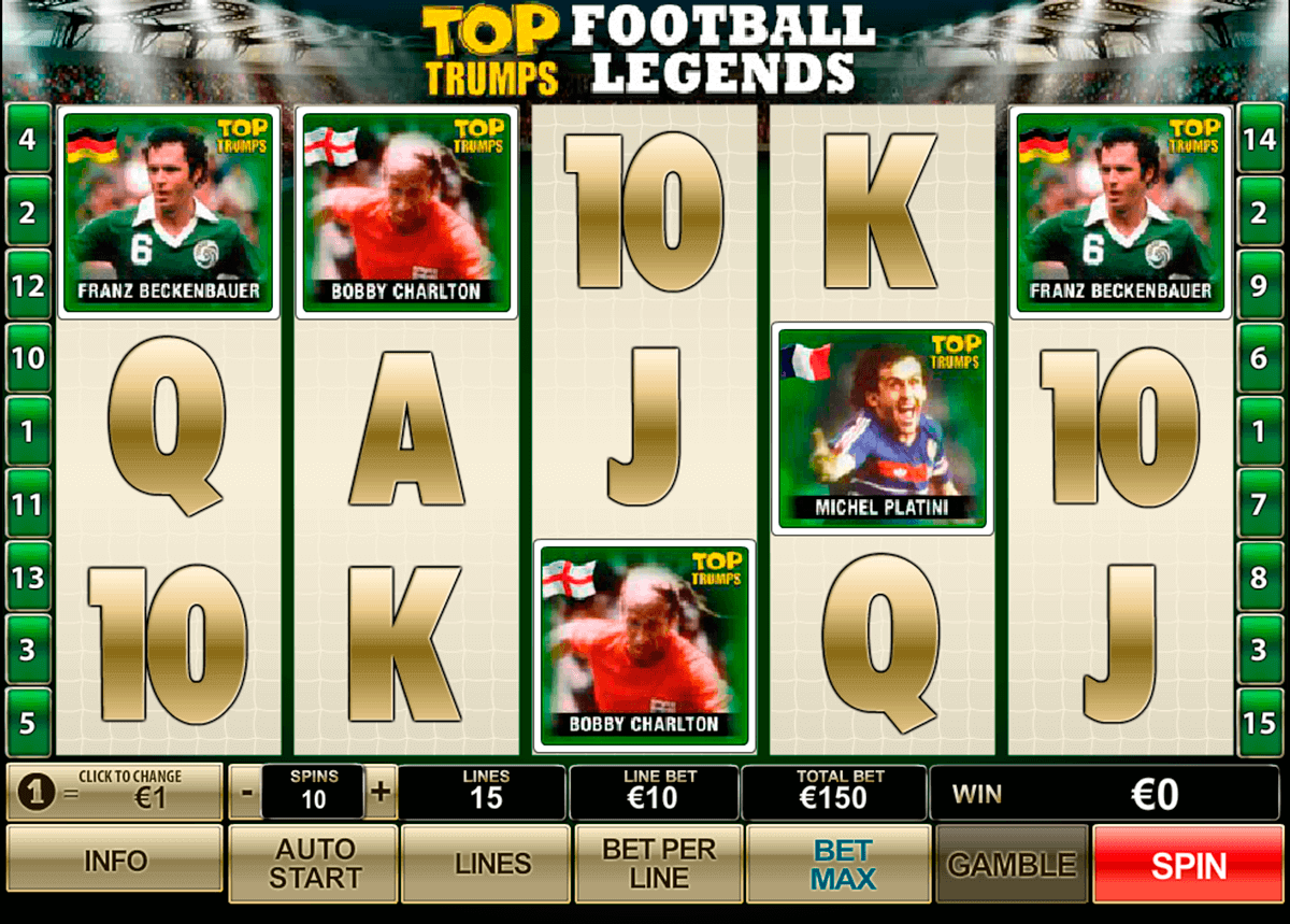 top trumps football legends playtech gokkast