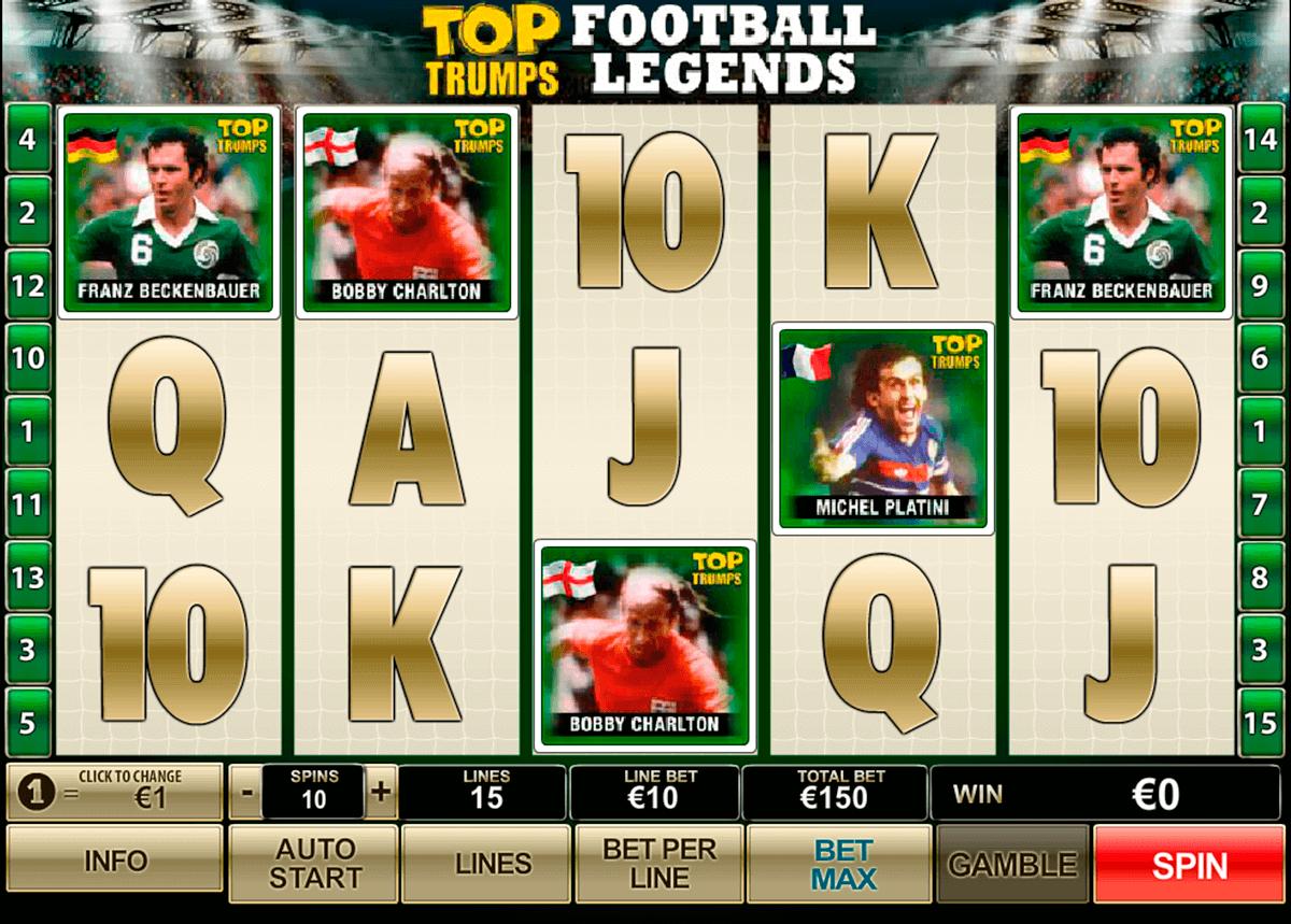 top trumps football legends playtech gokkast