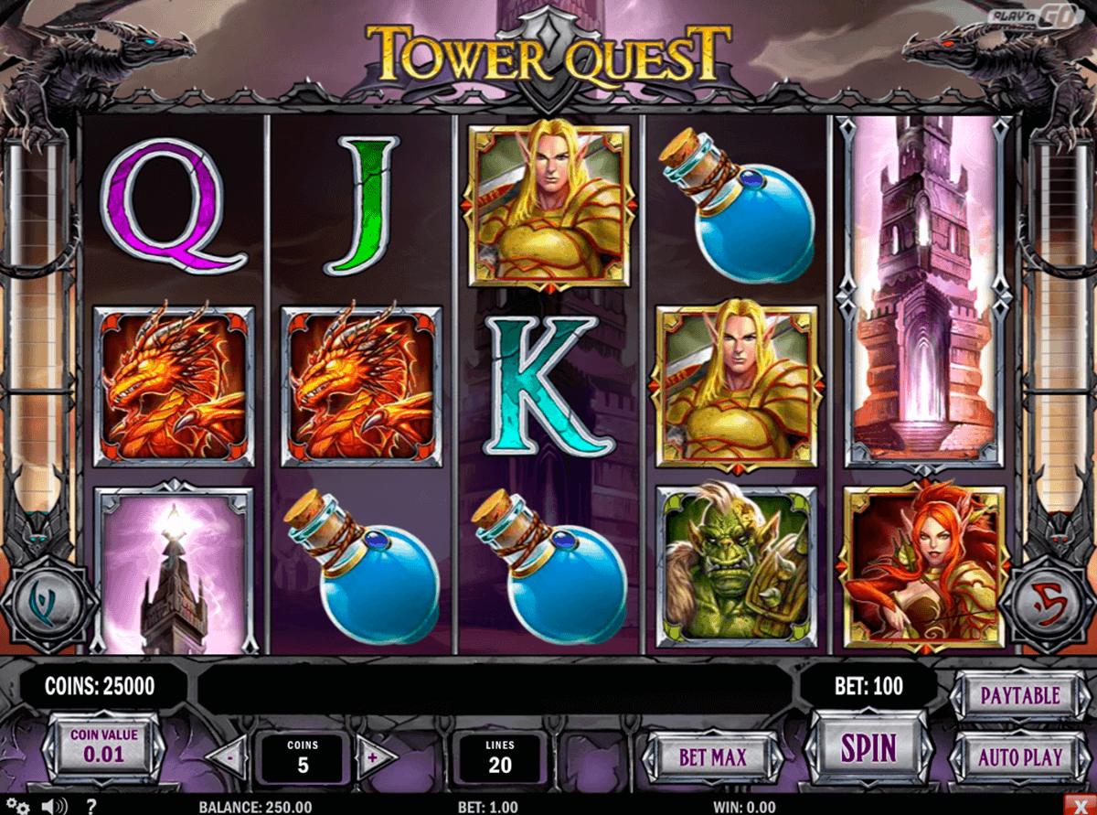 tower quest playn go gokkast