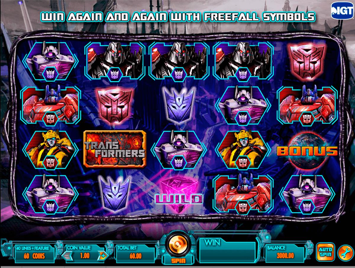 transformers battle for cybertron igt gokkast