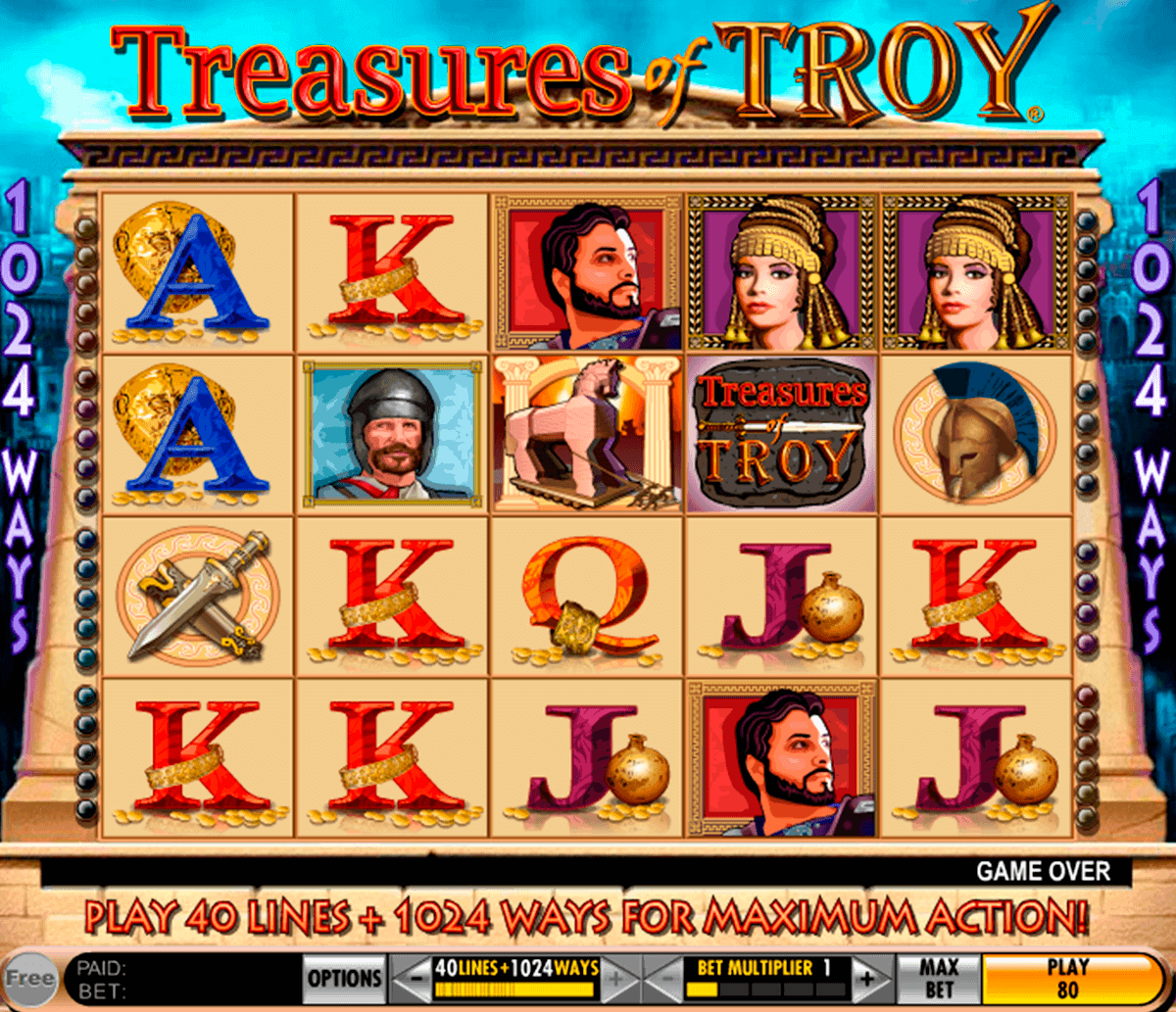 treasures of troy igt gokkast