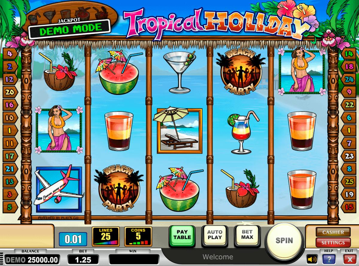 tropical holiday playn go gokkast
