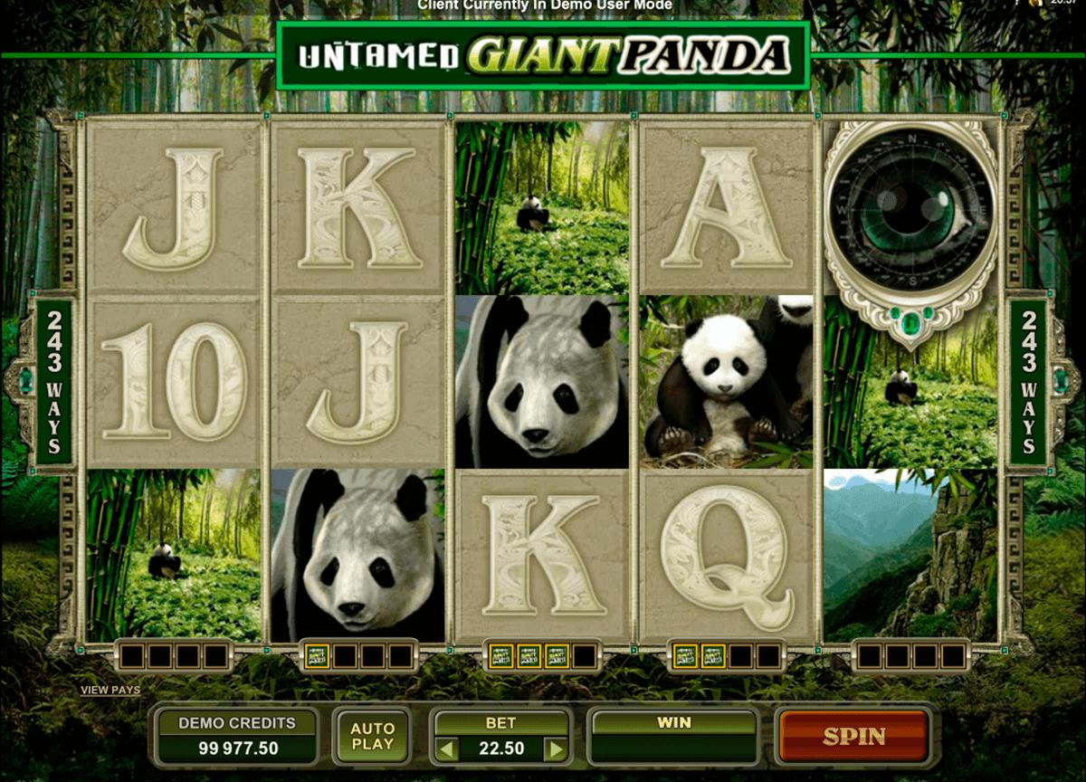 untamed giant panda microgaming gokkast
