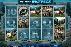 untamed wolf pack microgaming gokkast