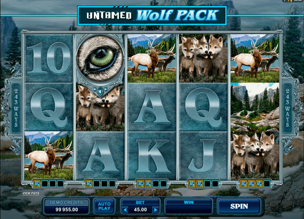 untamed wolf pack microgaming gokkast
