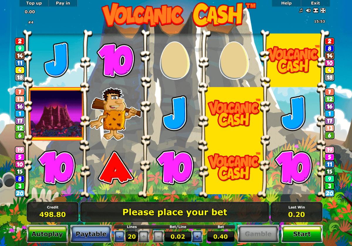 volcanic cash novomatic gokkast