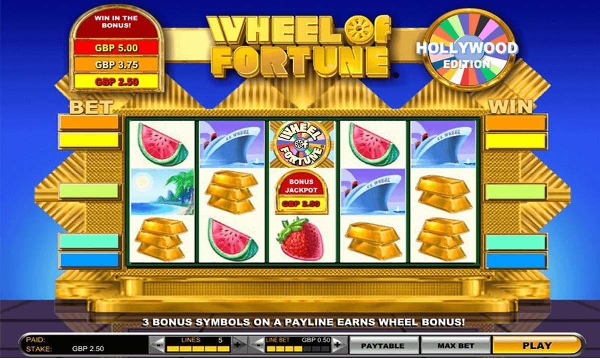 wheel of fortune hollywood edition igt gokkast