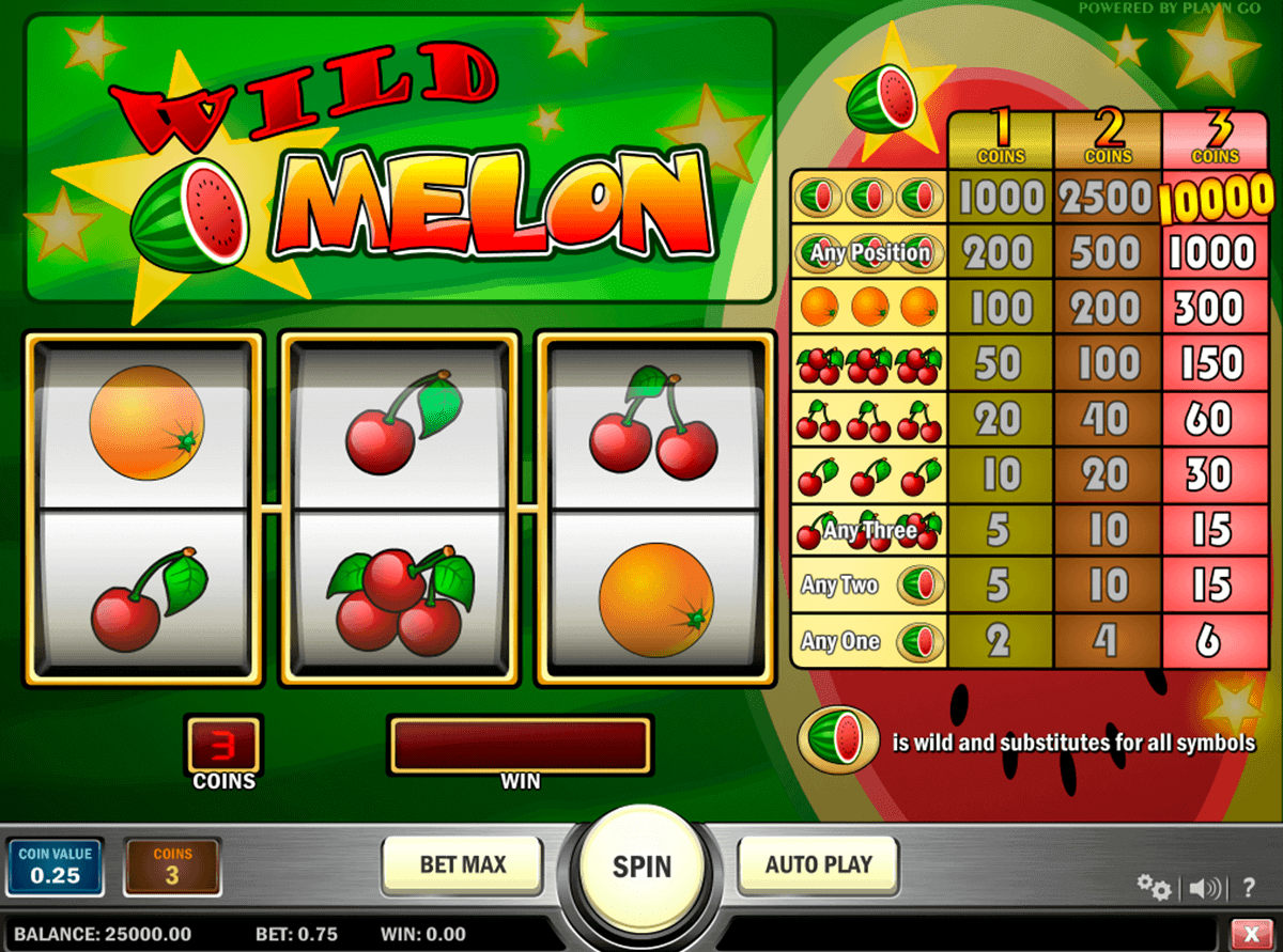 wild melon playn go gokkast