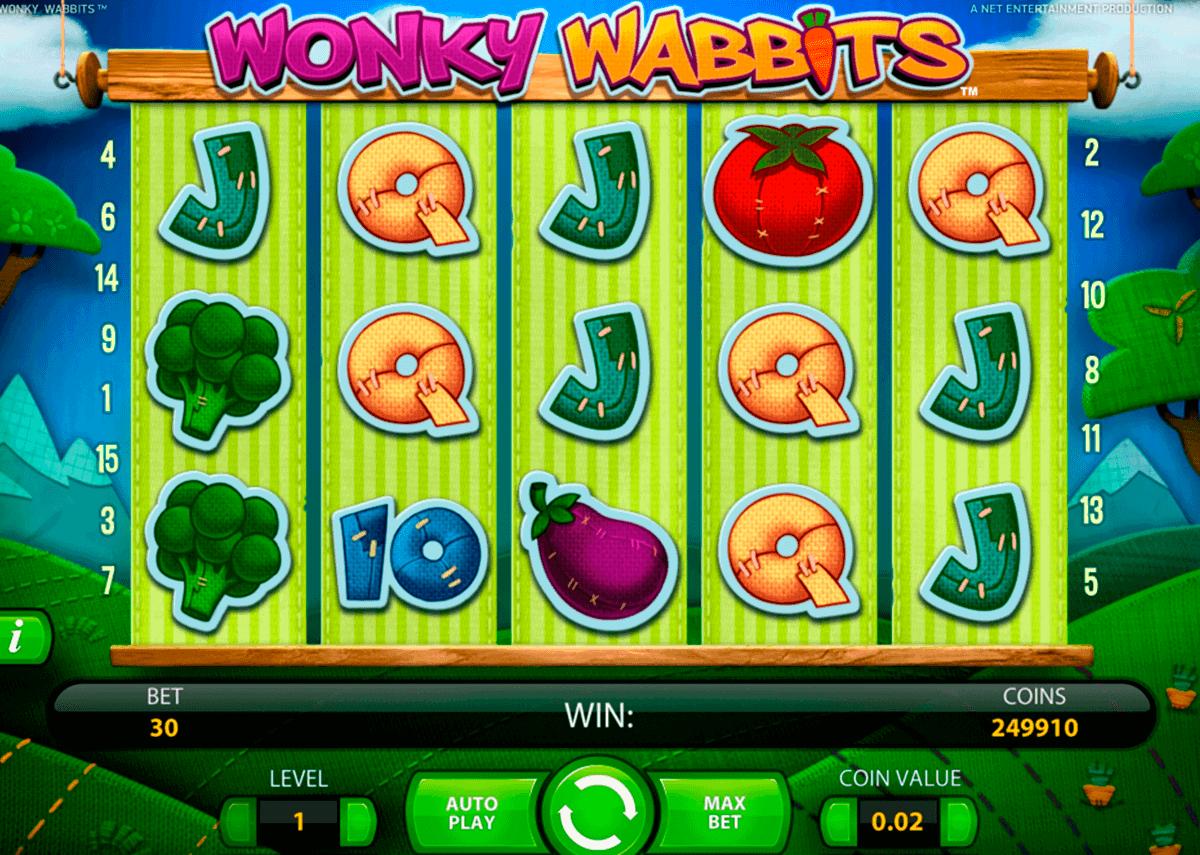 wonky wabbits netent gokkasten